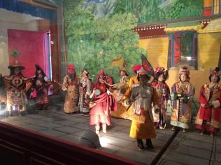 Diorama depicting dance